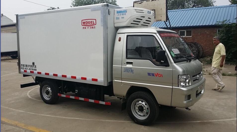 海鲜冷藏车 福田驭菱小型冷藏车(长轴)