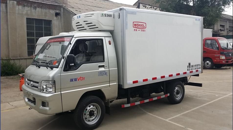 冷饮冻品冷藏车 福田驭菱小型冷藏车(长轴)