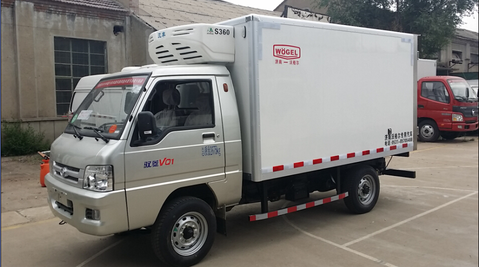 生鲜瓜果冷藏车 福田驭菱小型冷藏车(长轴)